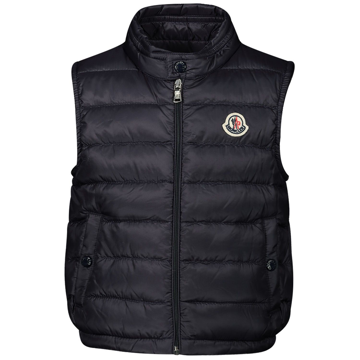 Picture of Moncler 1A10300 baby bodywarmer navy