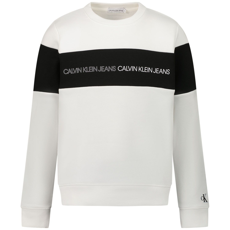 Picture of Calvin Klein IB0IB00812 kids sweater white