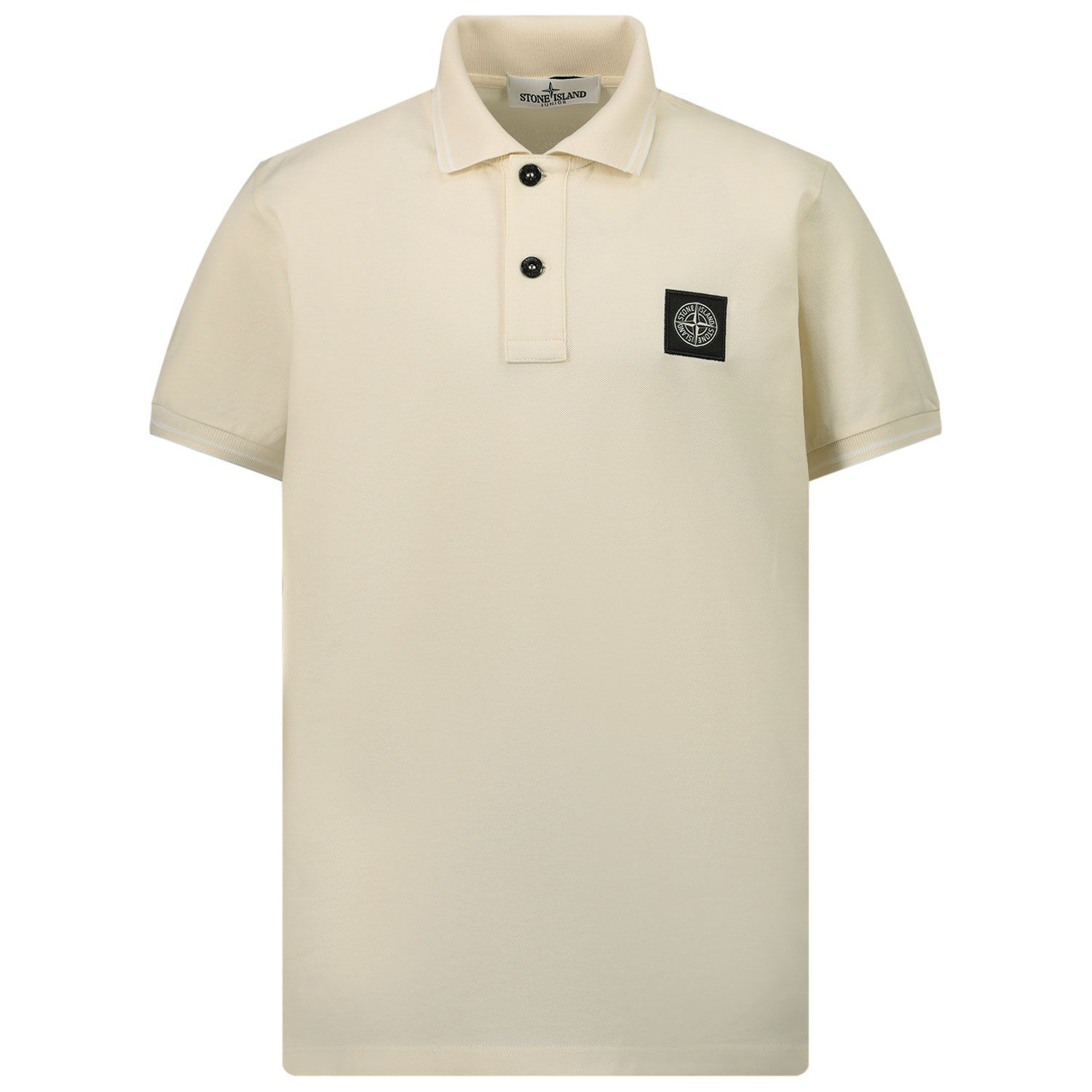 Picture of Stone Island 21348 kids polo shirt off white