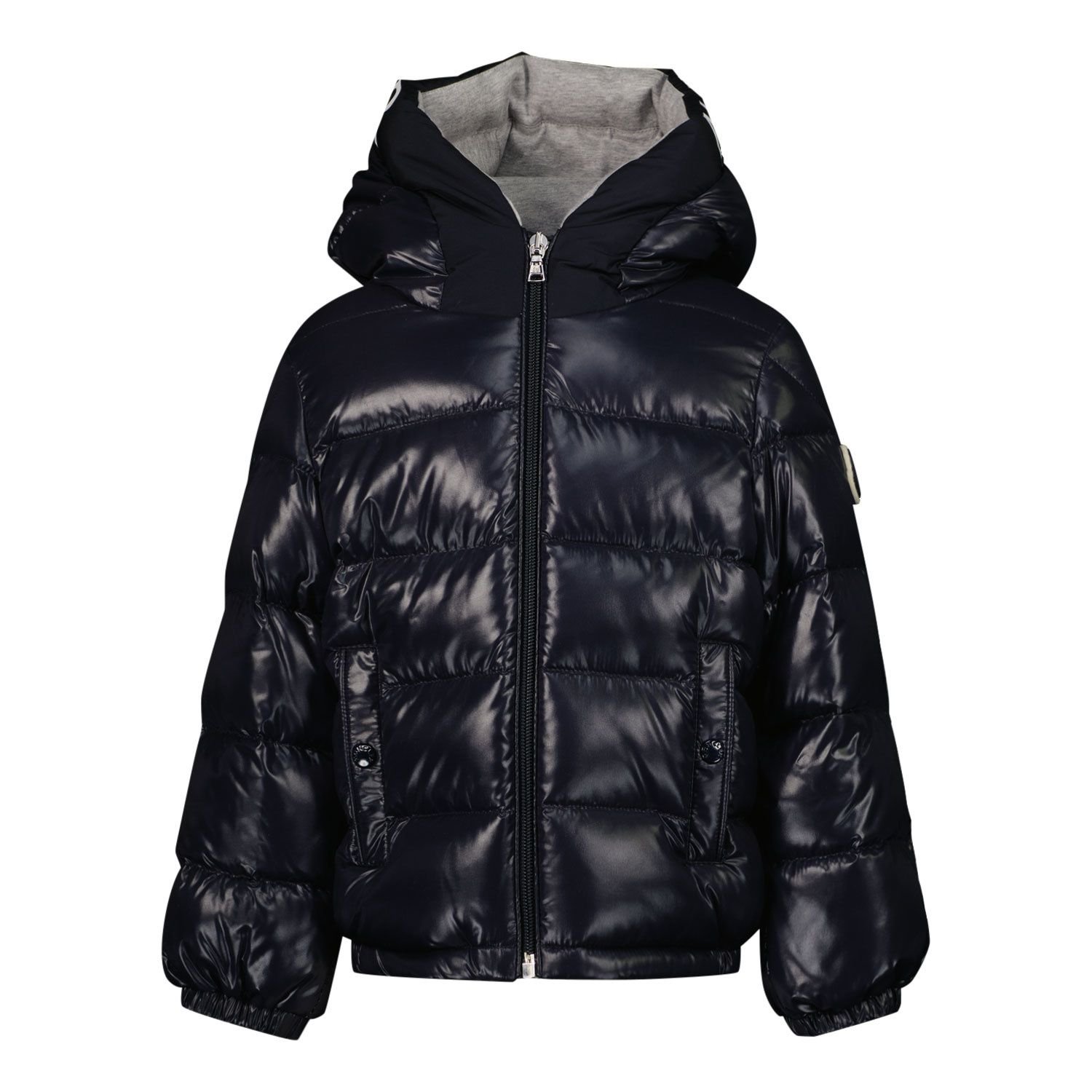 Picture of Moncler 1A55920 baby coat navy