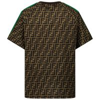 Picture of Fendi JUI015 ACZS kids t-shirt brown