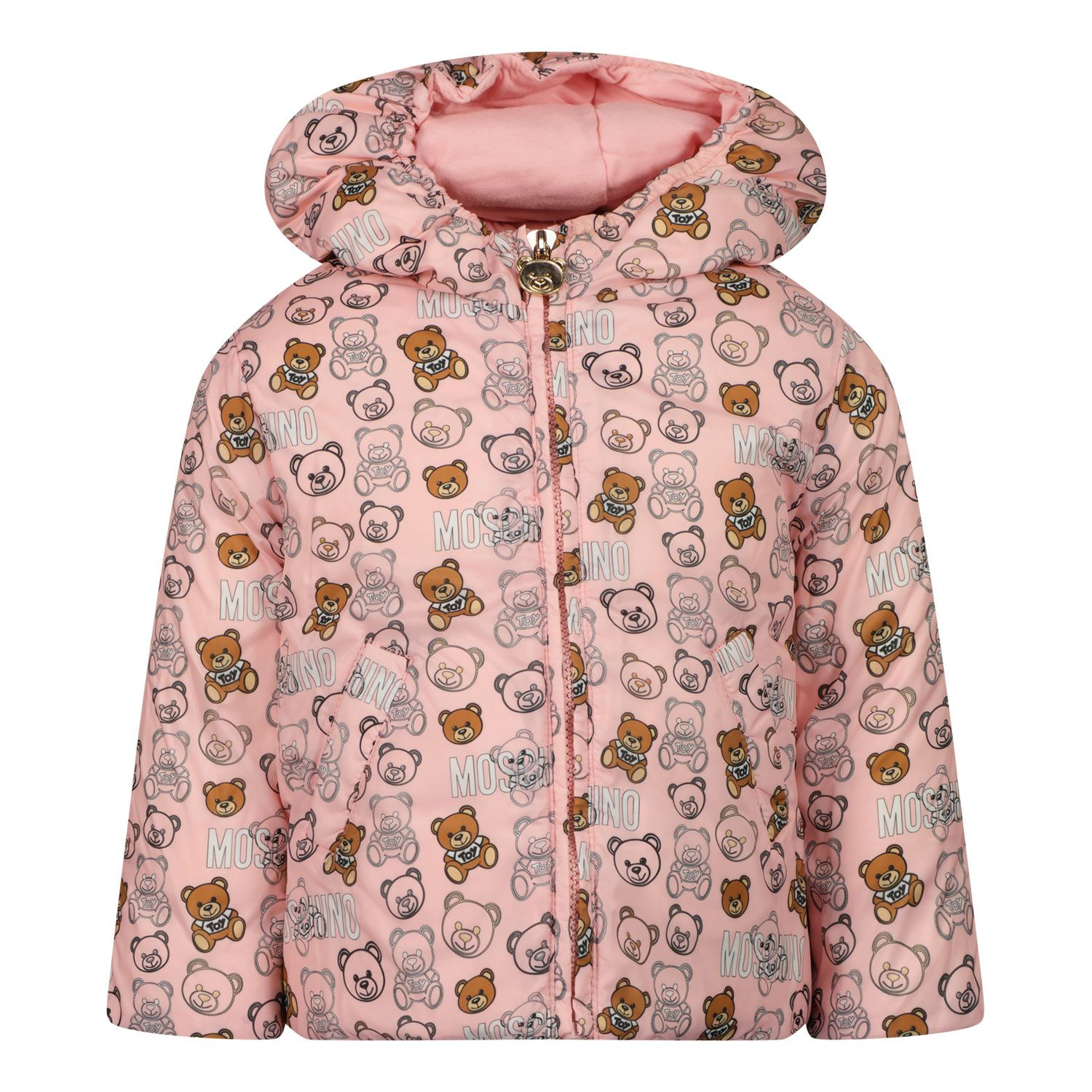 Picture of Moschino MUS021 baby coat light pink