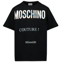 Picture of Moschino H9M029 kids t-shirt black