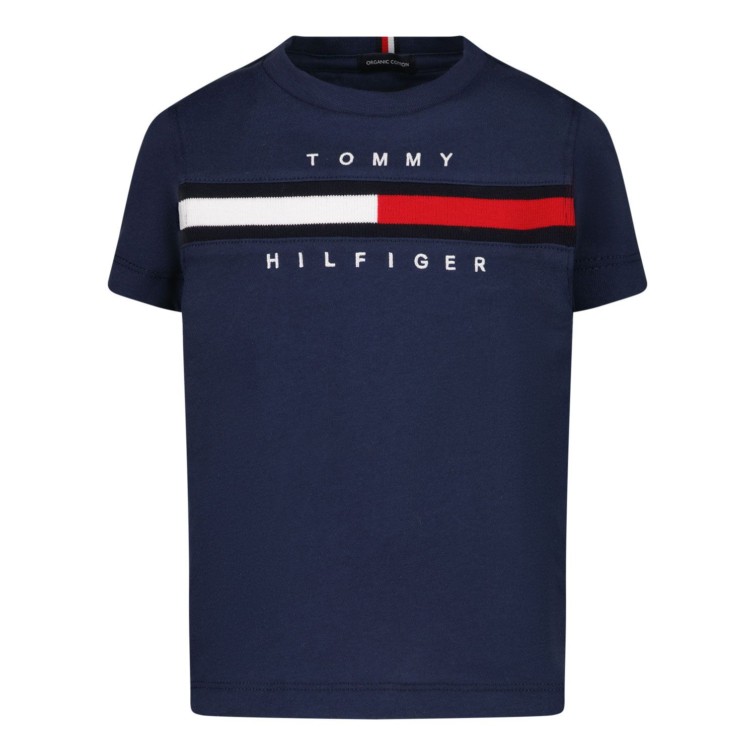 Picture of Tommy Hilfiger KB0KB06532 B baby shirt navy
