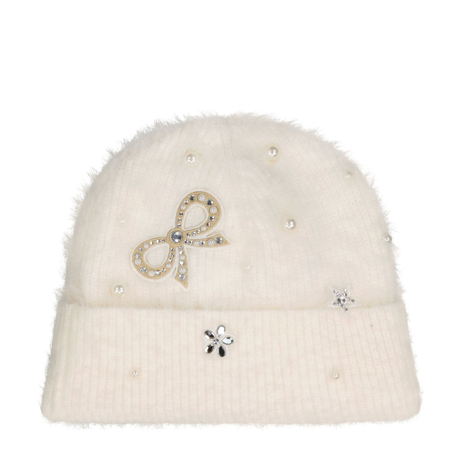 Picture of MonnaLisa 178005 kids hat off white