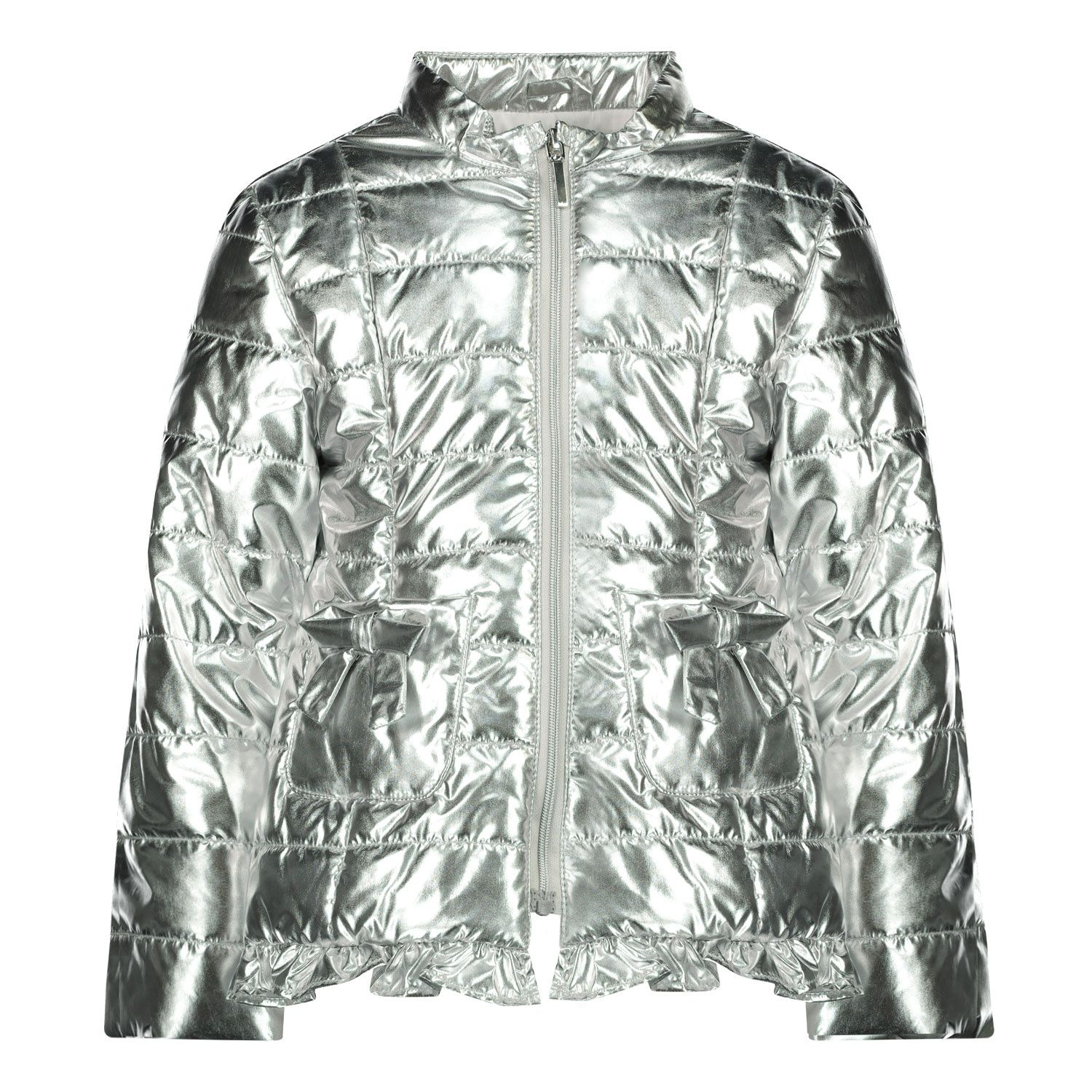 Picture of Mayoral 1487 baby coat silver