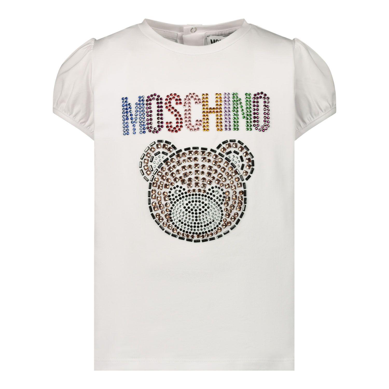 Bild von Moschino MEM02B Baby-T-Shirt Weiß