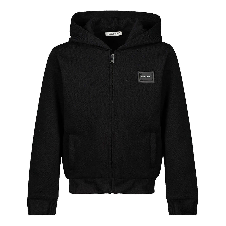 Picture of Dolce & Gabbana L1JW2V/G7OLJ kids vest black