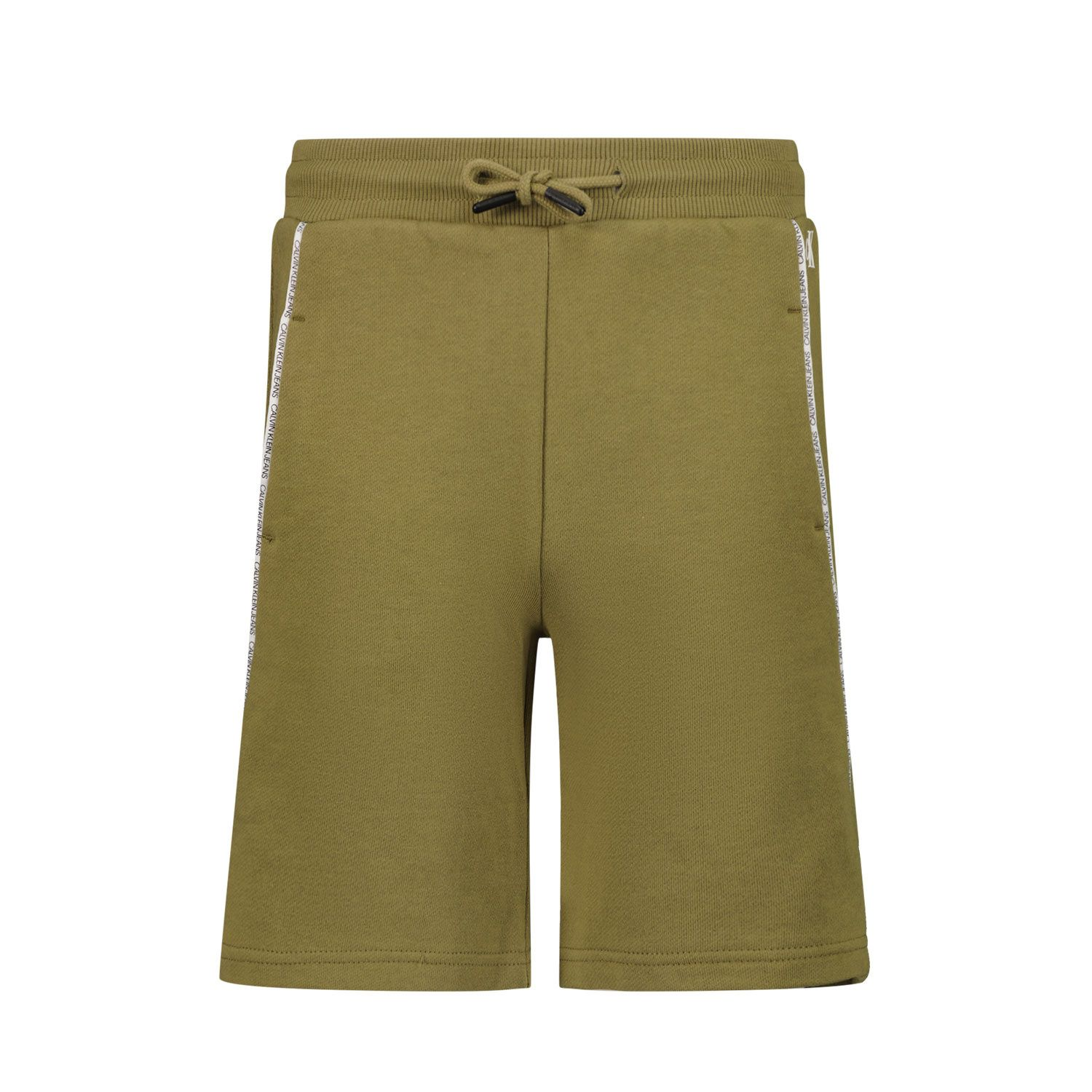 Picture of Calvin Klein IB0IB00929 kids shorts olive green