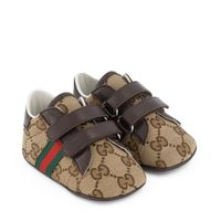 Picture of Gucci 502051 baby sneakers brown