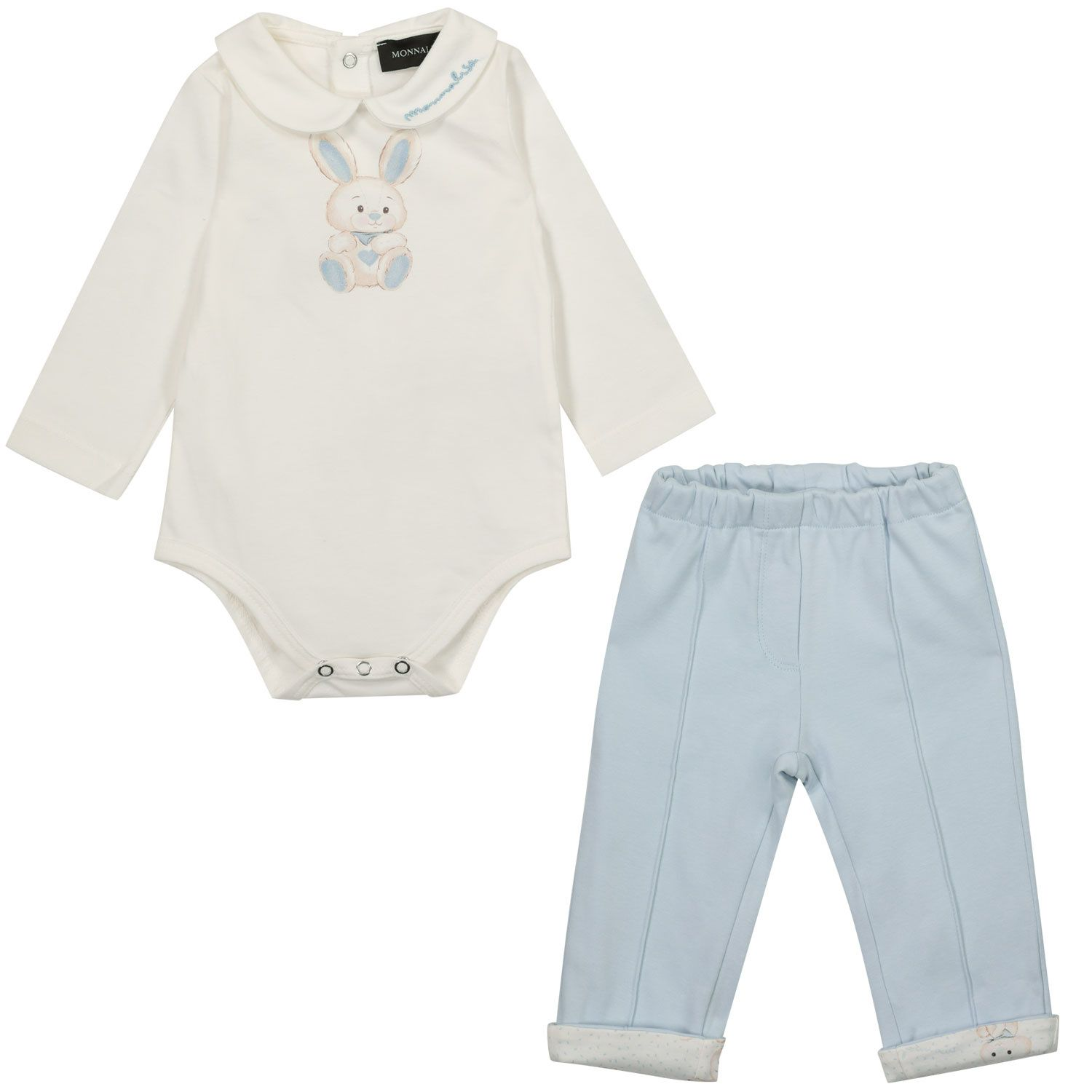 Picture of MonnaLisa 227501 baby set light blue