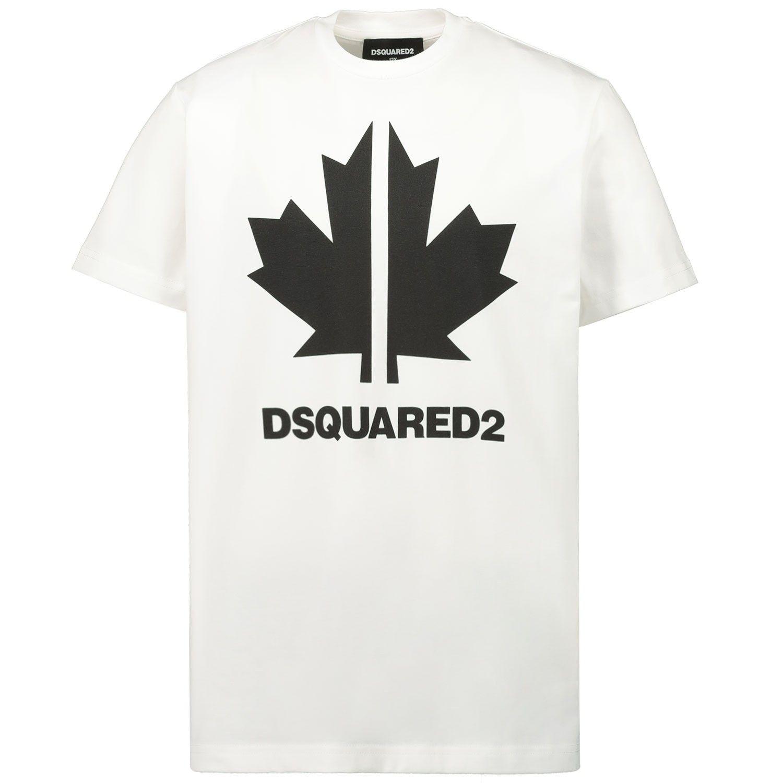 Afbeelding van Dsquared2 DQ0492 kinder t-shirt wit