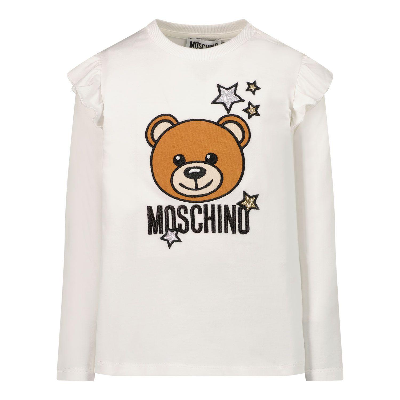 Bild von Moschino MDO007 Baby-T-Shirt Weiß