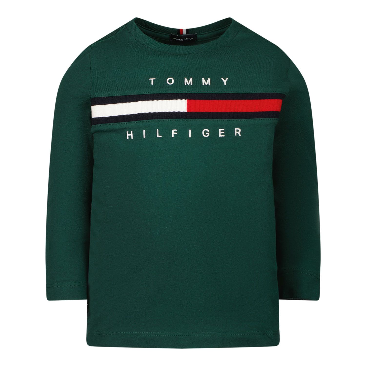 Picture of Tommy Hilfiger KB0KB06951B baby shirt green
