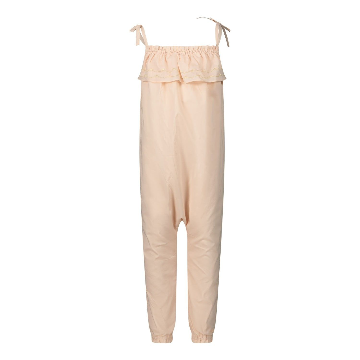 Picture of Chloé C04166 baby jumpsuit salmon