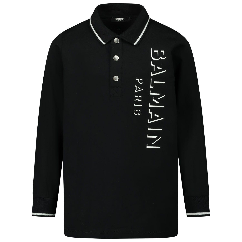 Afbeelding van Balmain 6N8640 kinder polo zwart