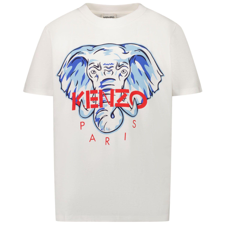 Afbeelding van Kenzo K25117 kinder t-shirt off white