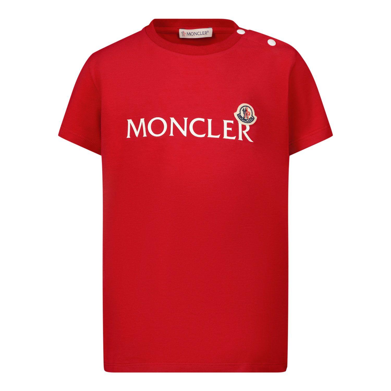 Afbeelding van Moncler 8C73820 baby t-shirt rood