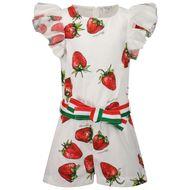 Afbeelding van MonnaLisa 117200 kinder jumpsuit wit/rood