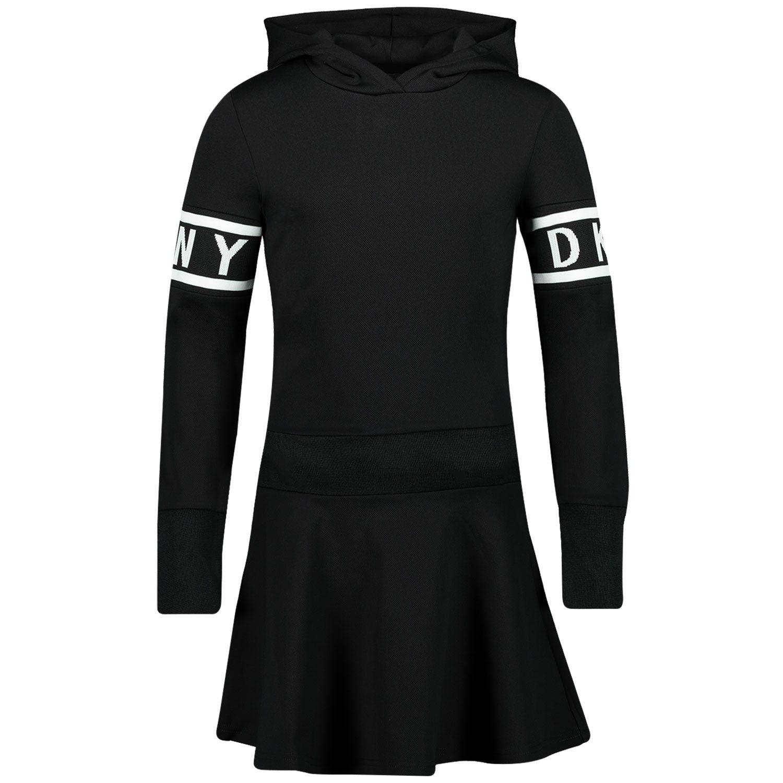 Picture of DKNY D32729 kids dress black
