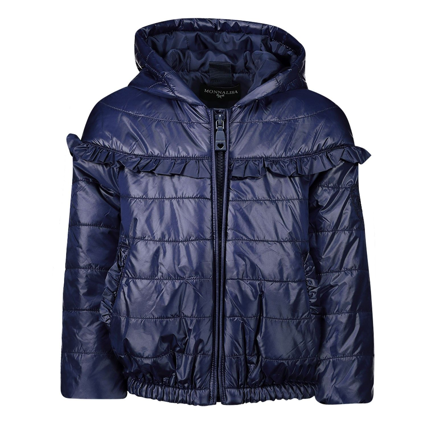 Picture of MonnaLisa 395100 baby coat navy