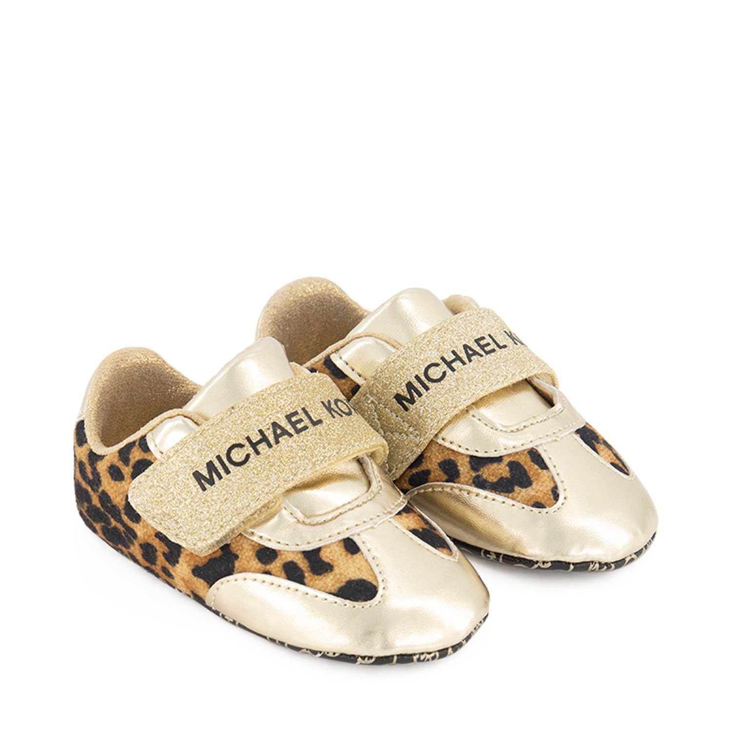 Picture of Michael Kors MK1100170 baby shoes gold
