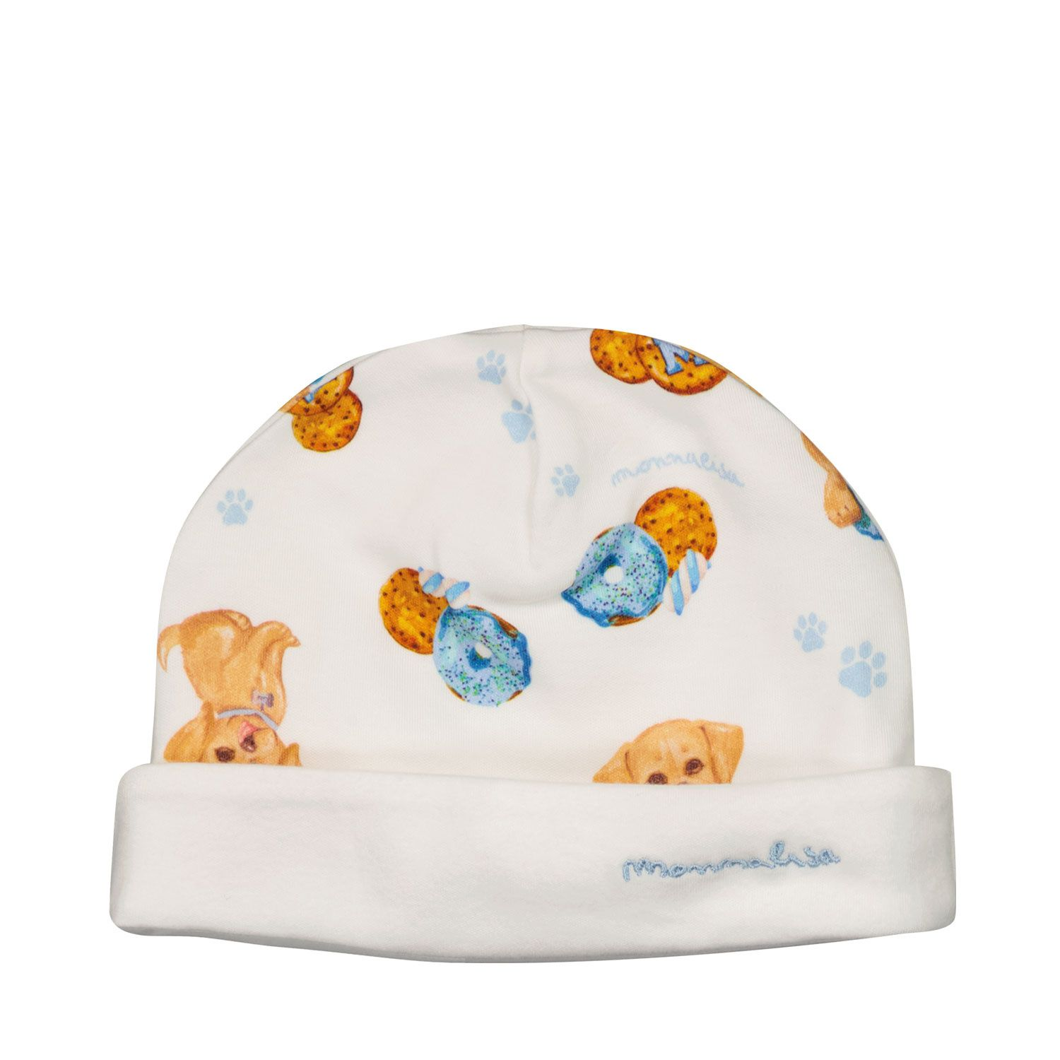Picture of MonnaLisa 228000 baby hat off white