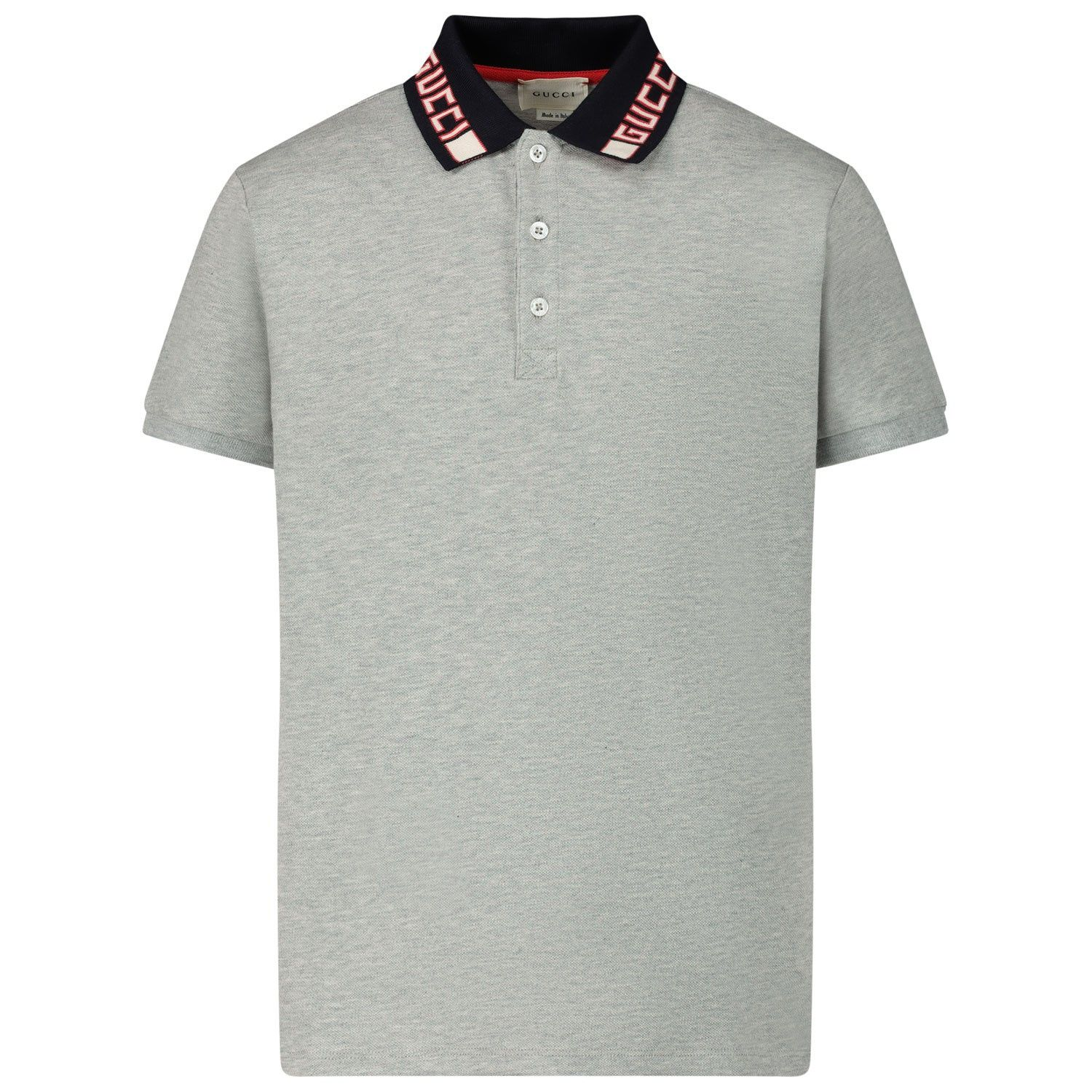 Picture of Gucci 522342 kids polo shirt light gray
