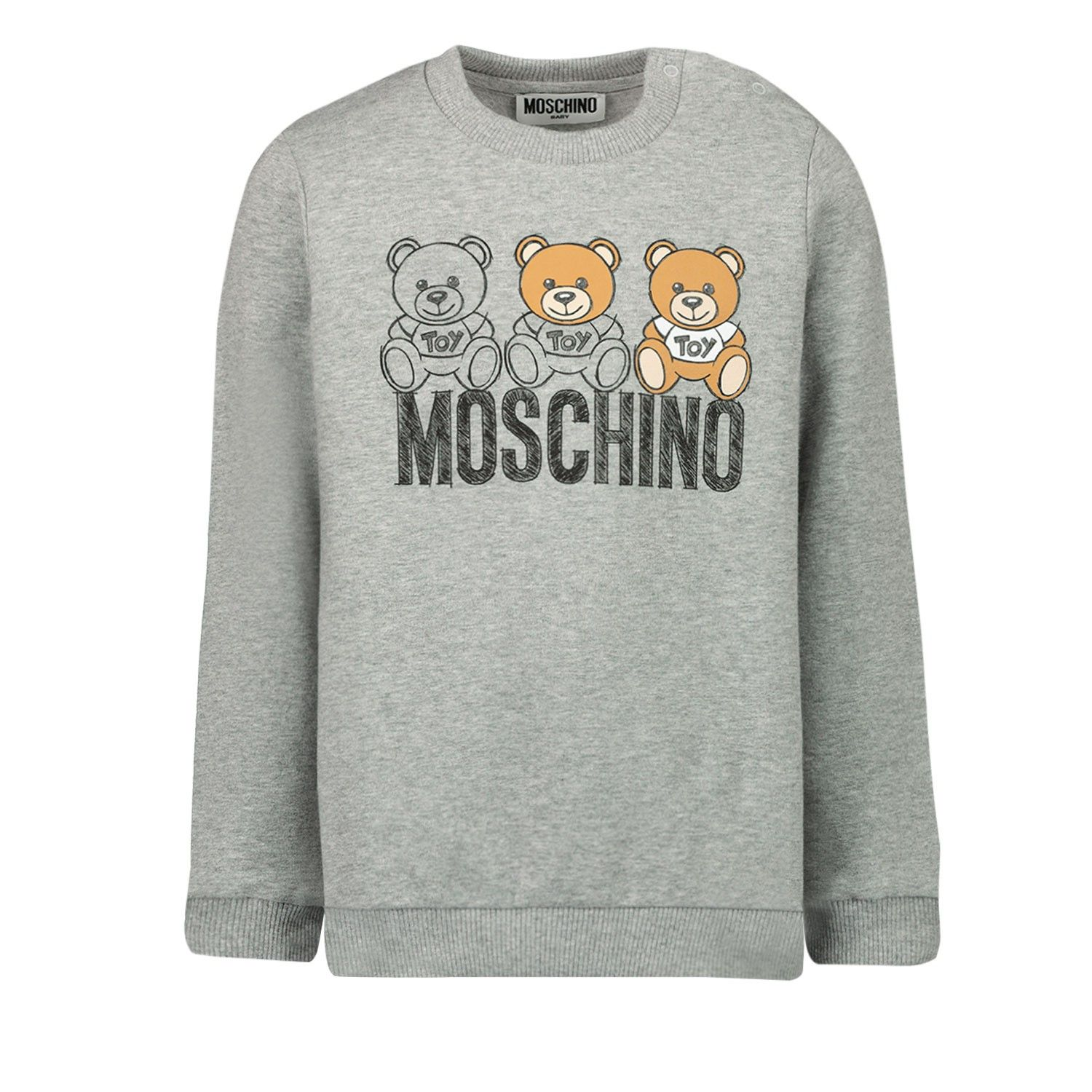 Picture of Moschino MPF03E baby sweater light gray