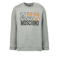 Afbeelding van Moschino MPF03E baby trui licht grijs