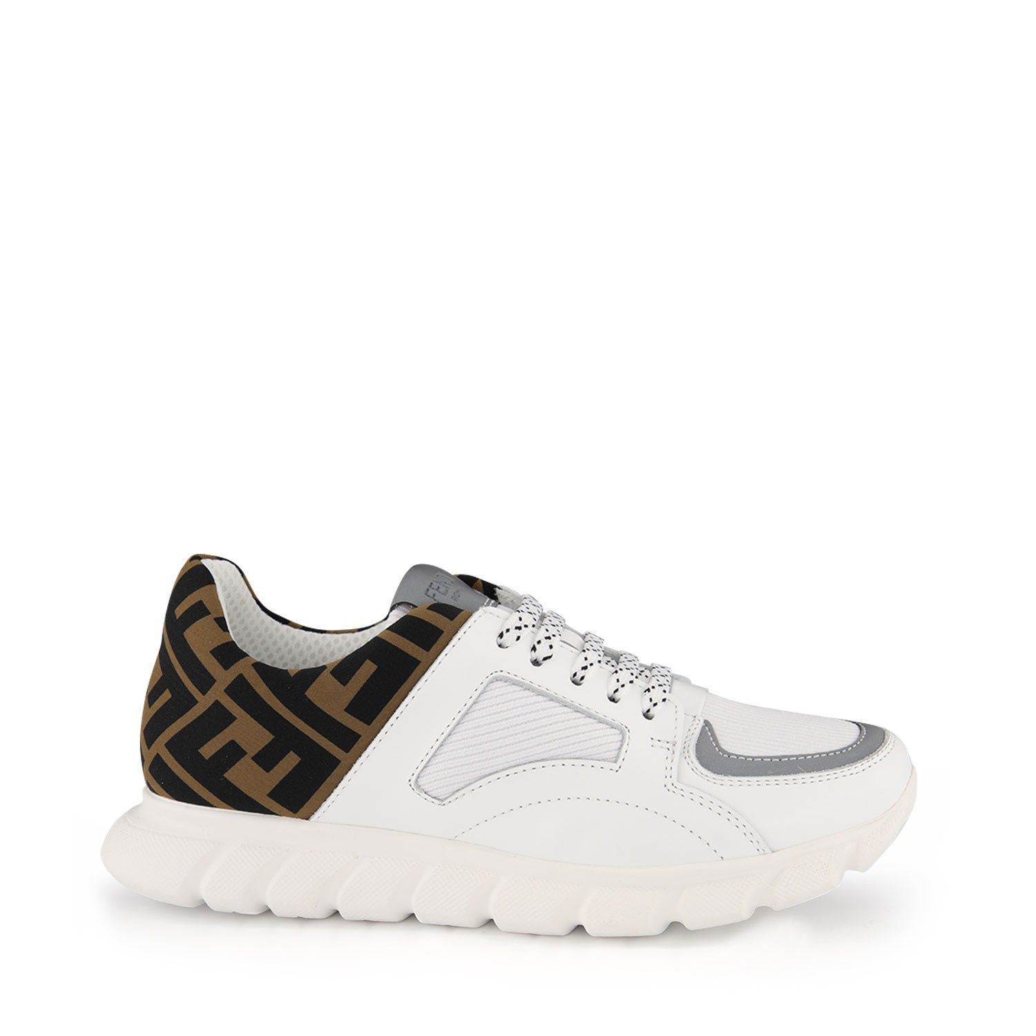 Picture of Fendi JMR333 A8CJ kids sneakers white