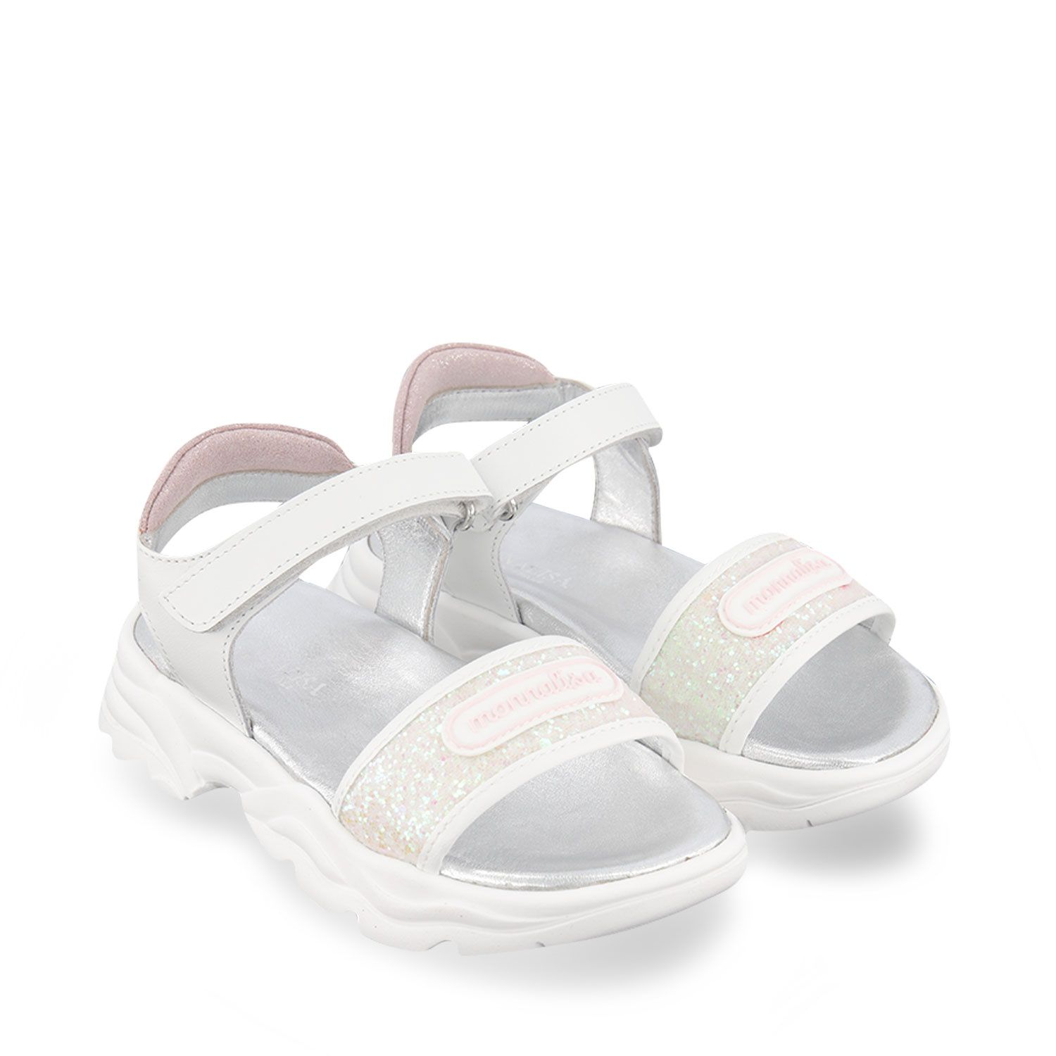 Picture of MonnaLisa 877006 kids sandals white
