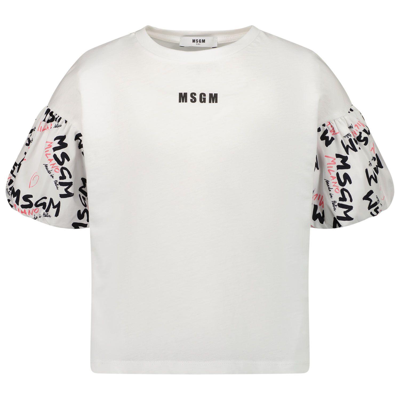 Afbeelding van MSGM MS026938 kinder t-shirt wit