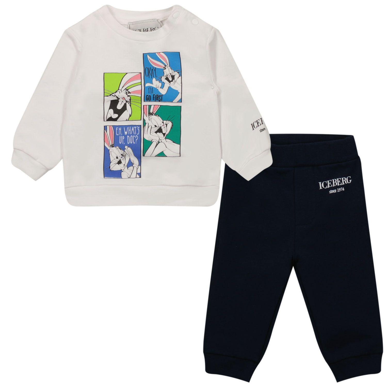 Afbeelding van Iceberg CFICE2301 baby joggingpak navy/wit