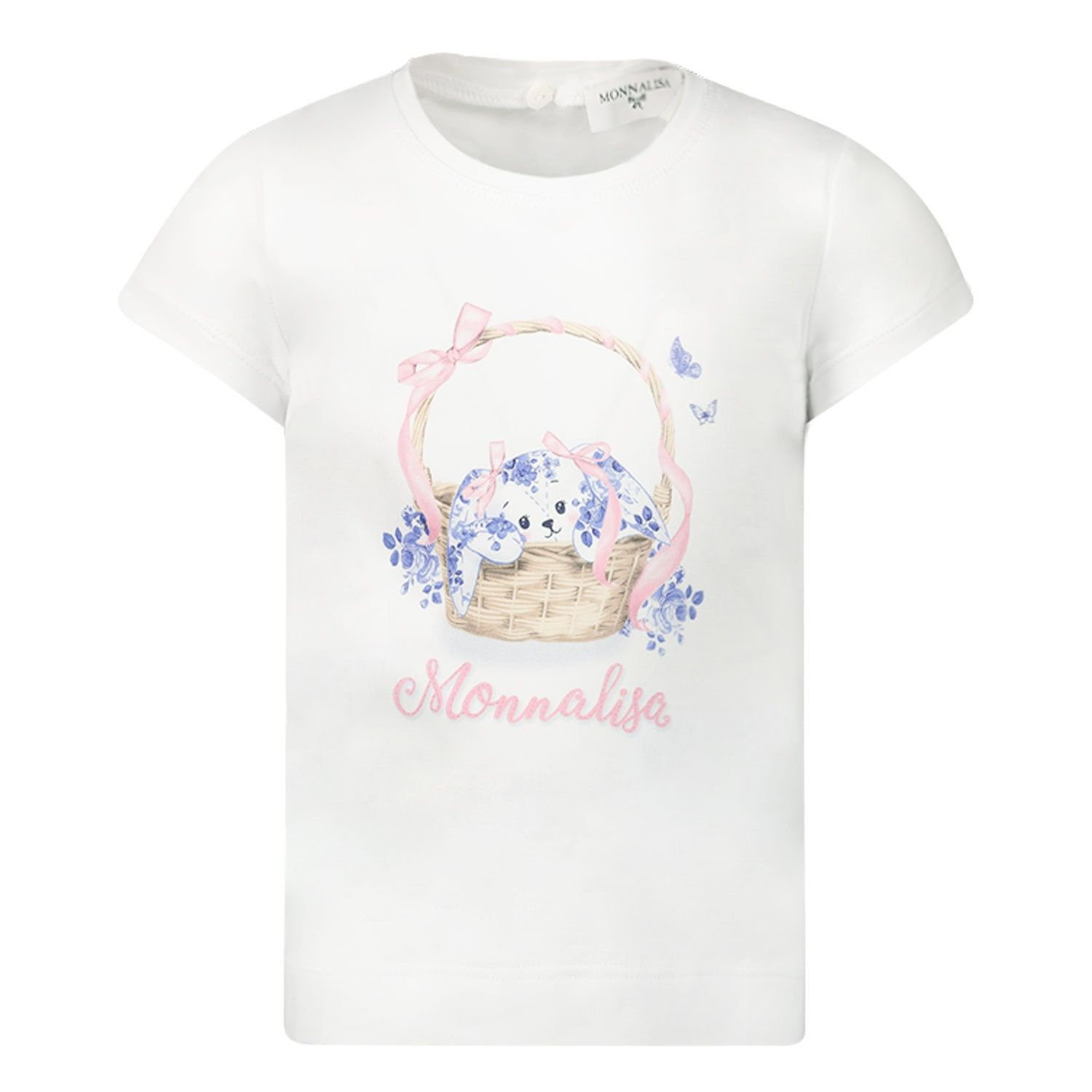 Picture of MonnaLisa 315601S1 baby shirt white
