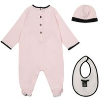 Picture of Balmain 6M0850 baby playsuit light pink