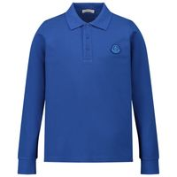 Picture of Moncler 8B70720 kids polo shirt cobalt blue