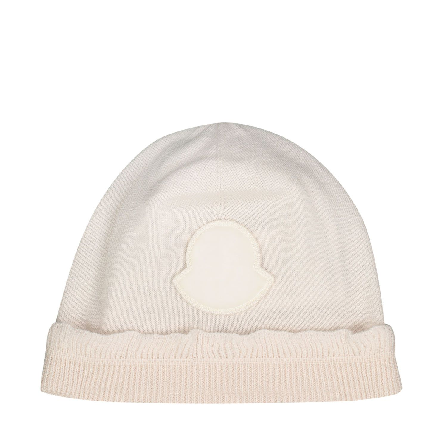 Picture of Moncler 9Z70410 baby hat ecru
