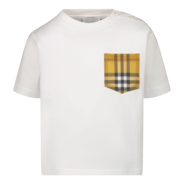 Afbeelding van Burberry 8038089 baby t-shirt wit