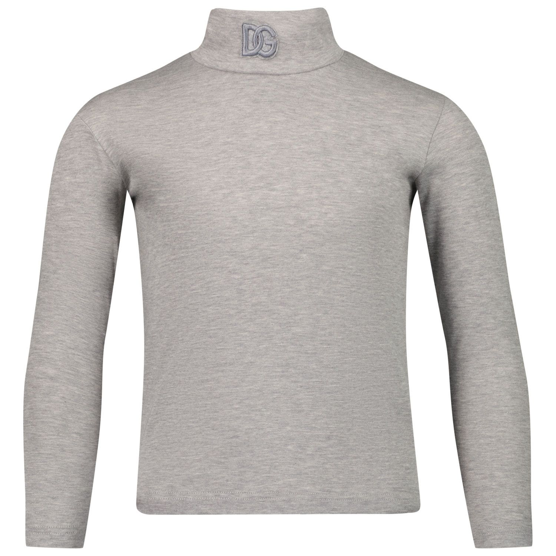 Picture of Dolce & Gabbana L4JTDL G7AJ2 kids t-shirt grey