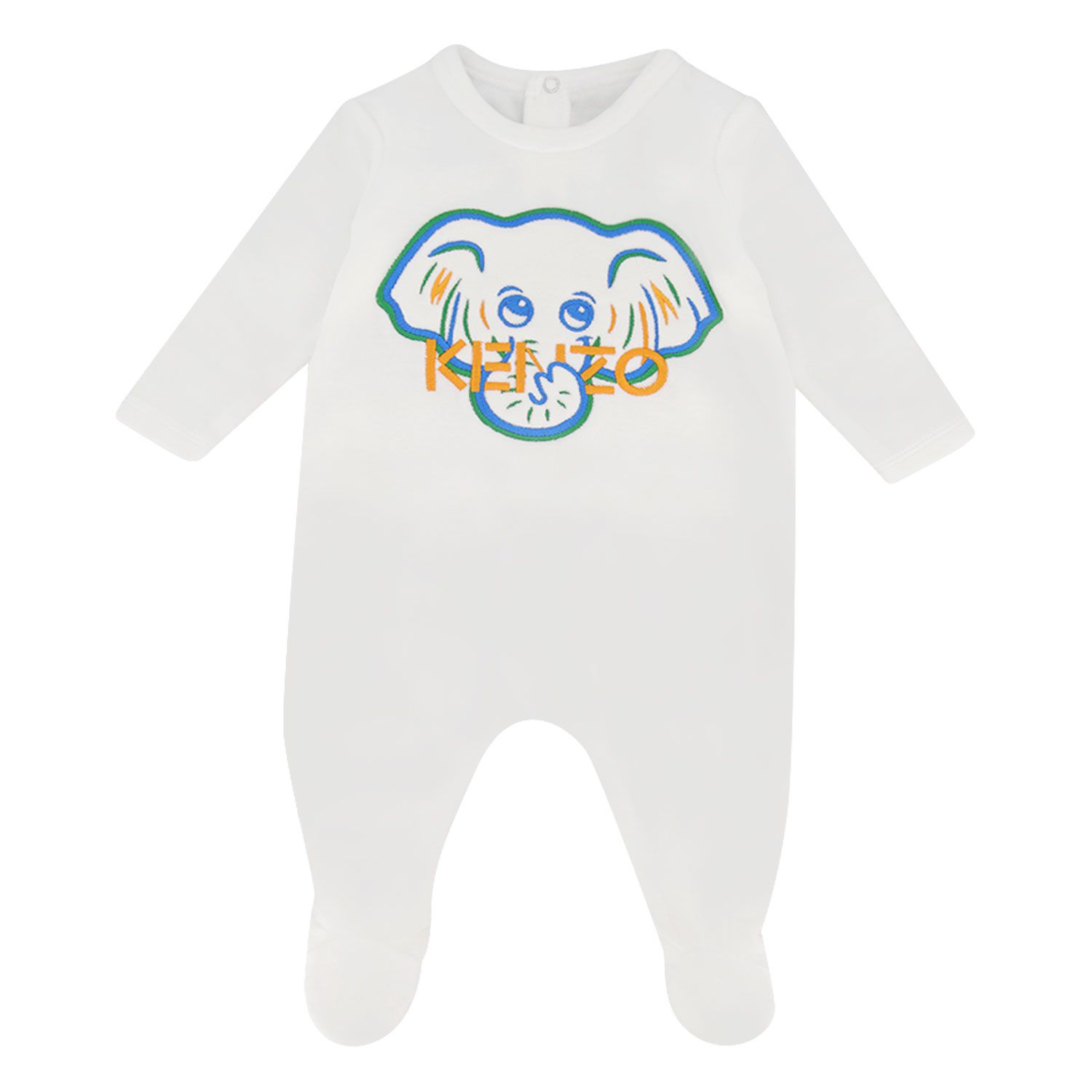 Picture of Kenzo KR54503 baby playsuit white