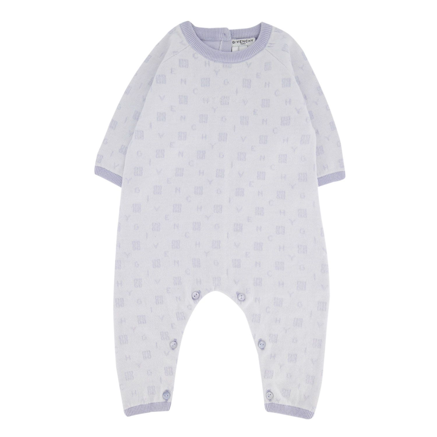 Picture of Givenchy H94051 baby playsuit light blue