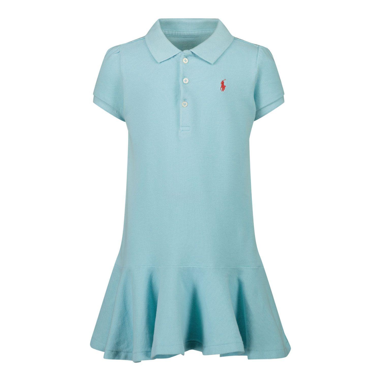 Picture of Ralph Lauren 310800654 baby dress turquoise