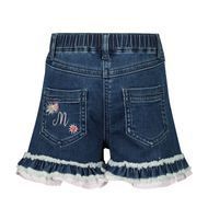 Afbeelding van MonnaLisa 397415RE baby shorts jeans