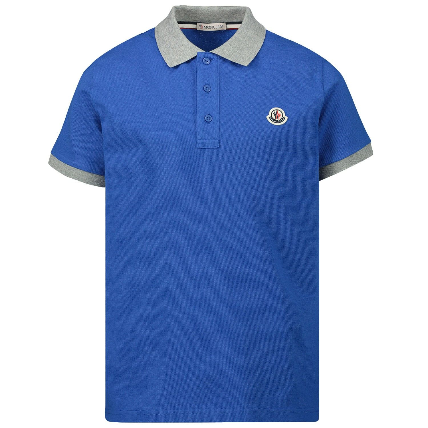 Afbeelding van Moncler 8A70120 kinder polo blauw