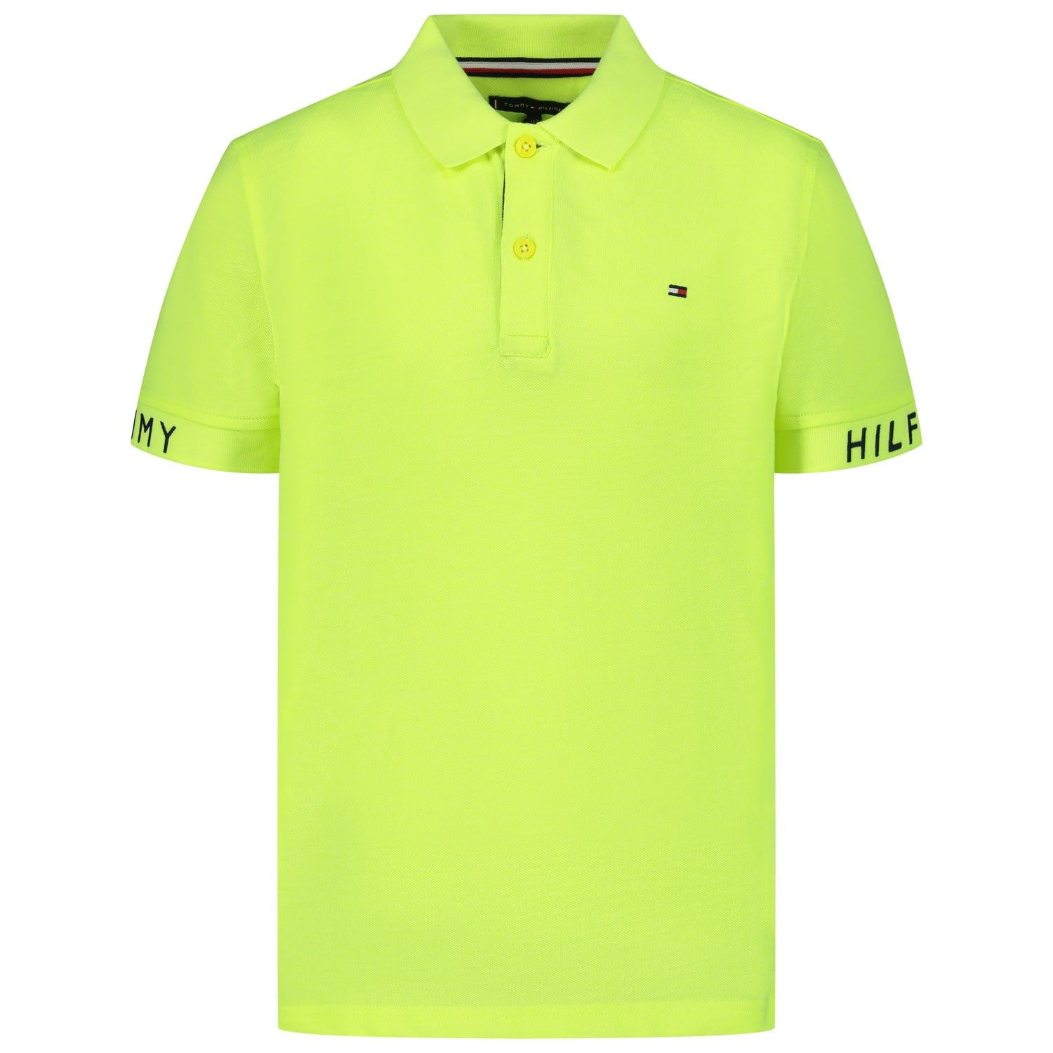 Picture of Tommy Hilfiger KB0KB05656 kids polo shirt fluoro yellow