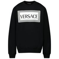 Picture of Versace YD000192 kids sweater black