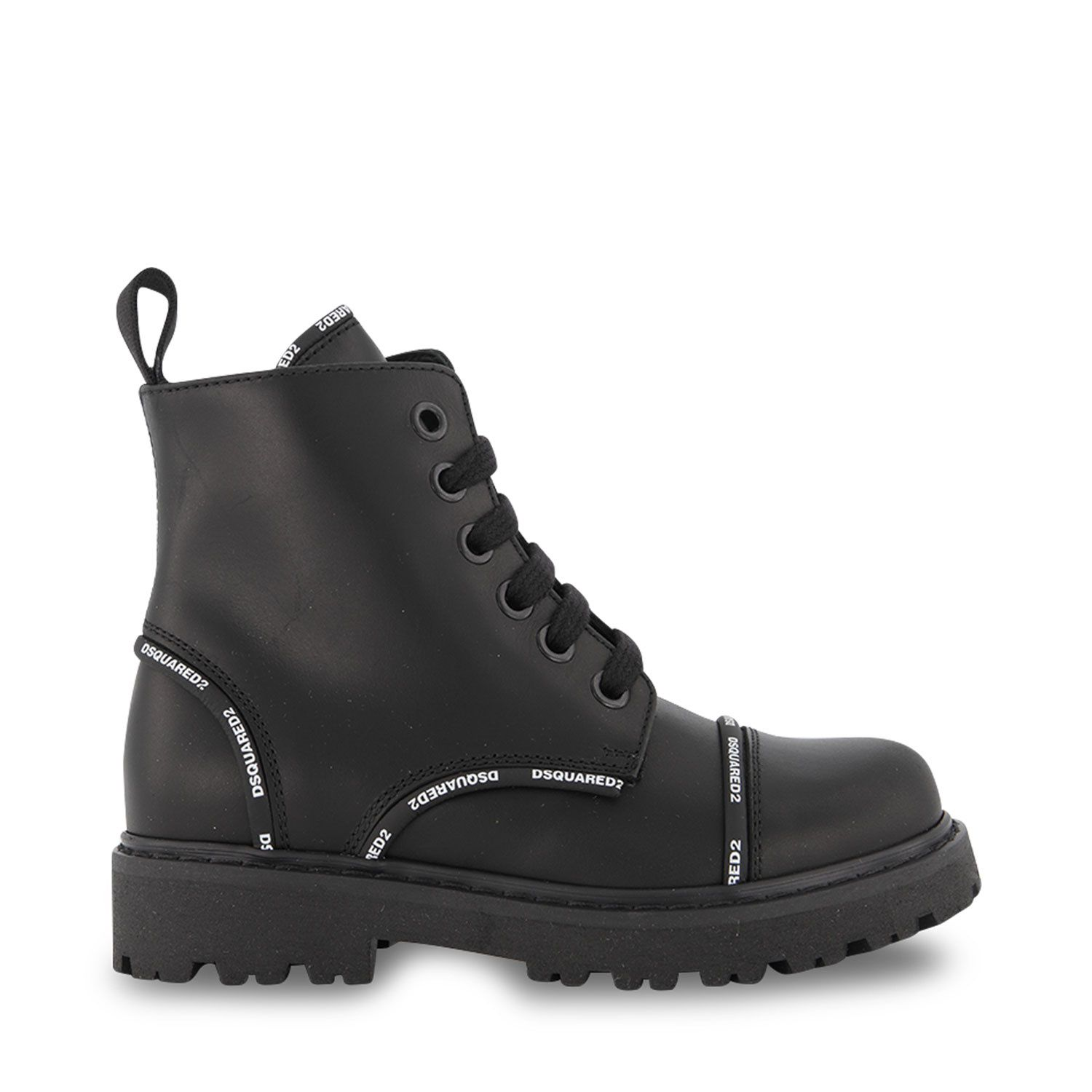 Picture of Dsquared2 68587 kids boots black