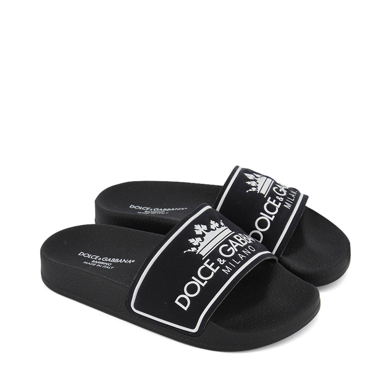 Bild von Dolce & Gabbana DD0318 / AZ606 Kinder-Flip-Flops Schwarz