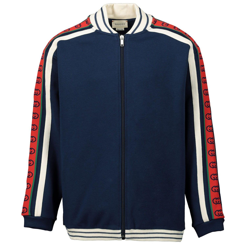 Picture of Gucci 591492 kids vest dark blue